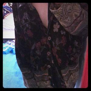 Vintage floral cardigan 🌸
